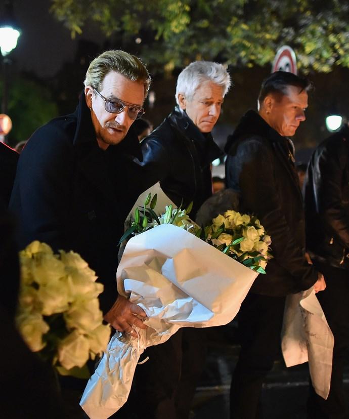Bono was also nearby when the Paris terror attacks occurred.