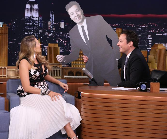 Blake's 18-month-old daughter James has mistaken Jimmy Fallon for her dad!