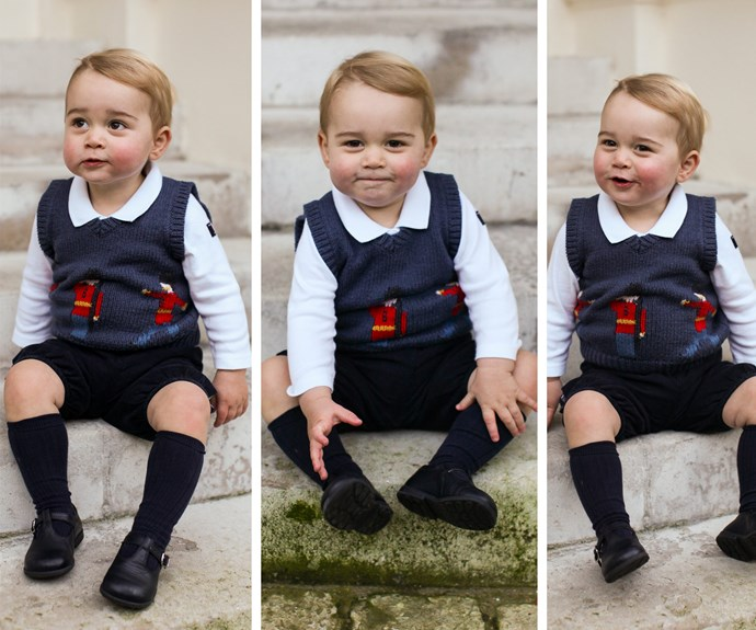 In 2014, the Royal Family presented the world with the cutest Christmas gift of all - this official series of snaps featuring  Prince George casually hanging out in the courtyard at Kensington Palace.