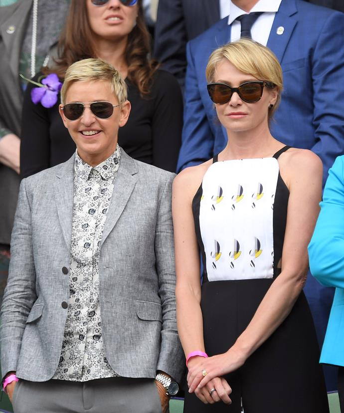 Ellen recently attended Wimbledon with her wife Portia Di Rossi on the same day as her cousin the Duchess of Cambridge and her hubby, Prince William.