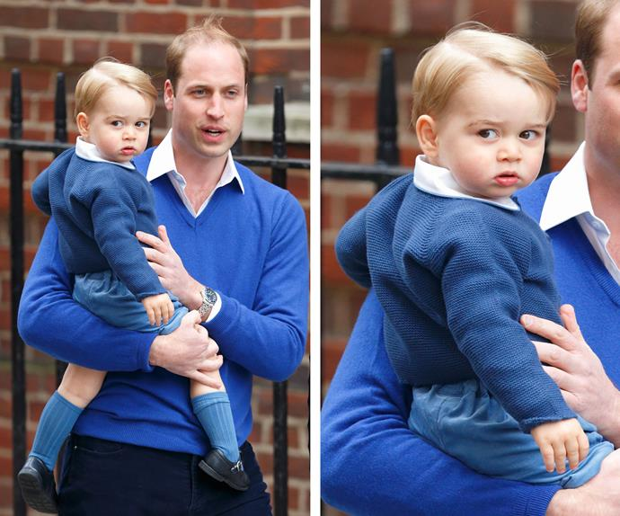 Meet Prince George, third-in-line of the British throne and the King of Cuteness. Seriously, those cheeks need a warning!