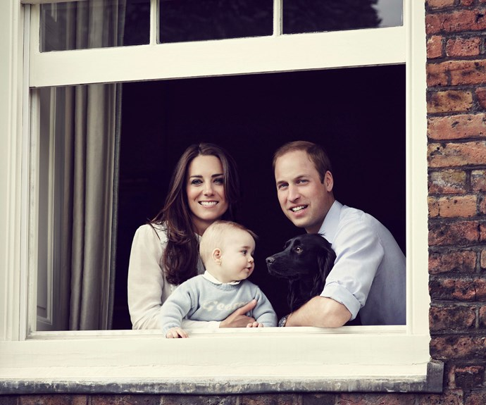 The George effect! Shortly after the Cambridges released this family photo for Mother's Day, parents flocked to buy jumpers with their little one's name emblazoned across it, just like the one George wears by designers My1stYears in the happy snap.