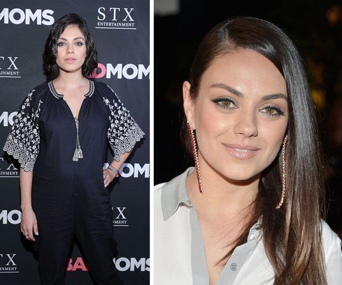 Mila Kunis surprised fans as she stepped out for the *Bad Moms* premiere with a stunning 1920's inspired short wavy bob.