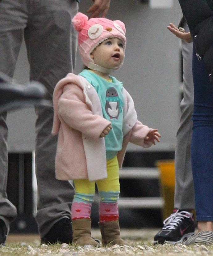 Mila admits to receiving strange looks when breastfeeding her adorable baby girl.