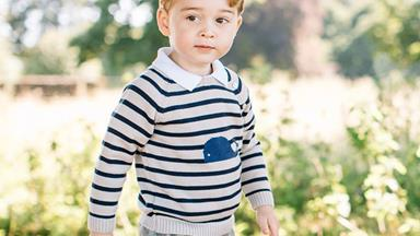 By George! The Prince turns three