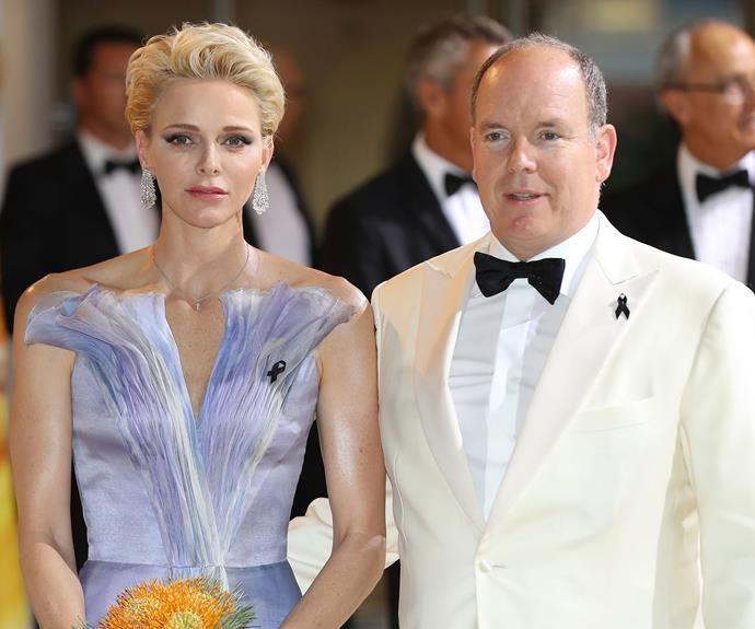 Princess Charlene of Monaco dazzled at the 68th annual Red Cross Gala in Monte Carlo on Saturday.