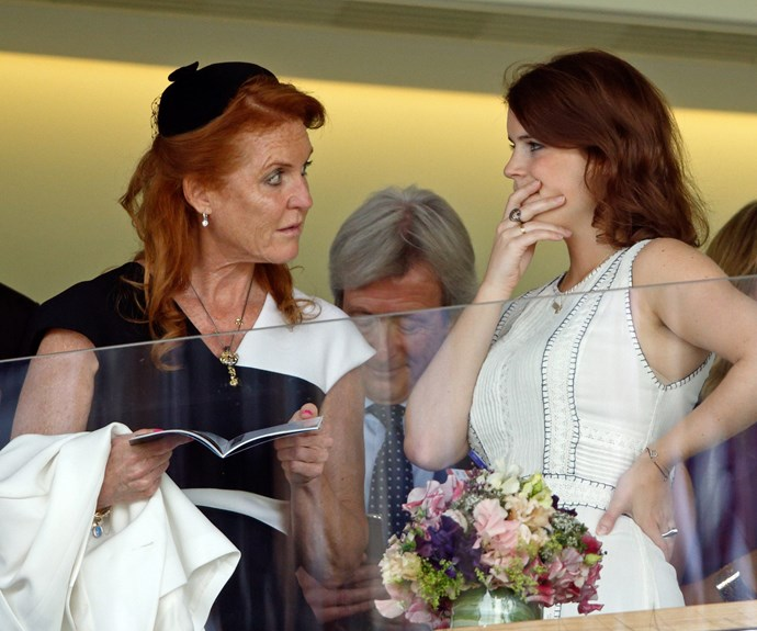 The Duchess of York spent time in the royal box with her daughter Eugenie.