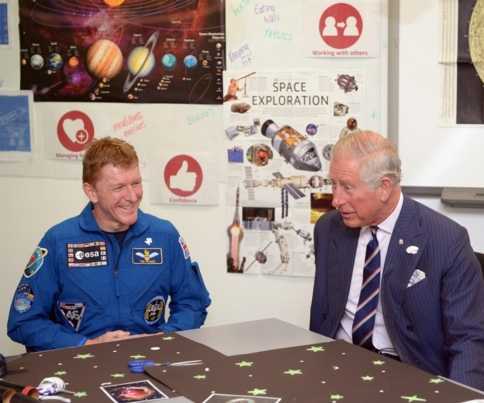 """Are you sure you're in one piece?"" Charles asked Major Peake, who has just returned from a six-month stint in space. The Major laughed and agreed ""it does take a while - took a week for the balance to return.""  He added that he was ""now feeling absolutely great."""
