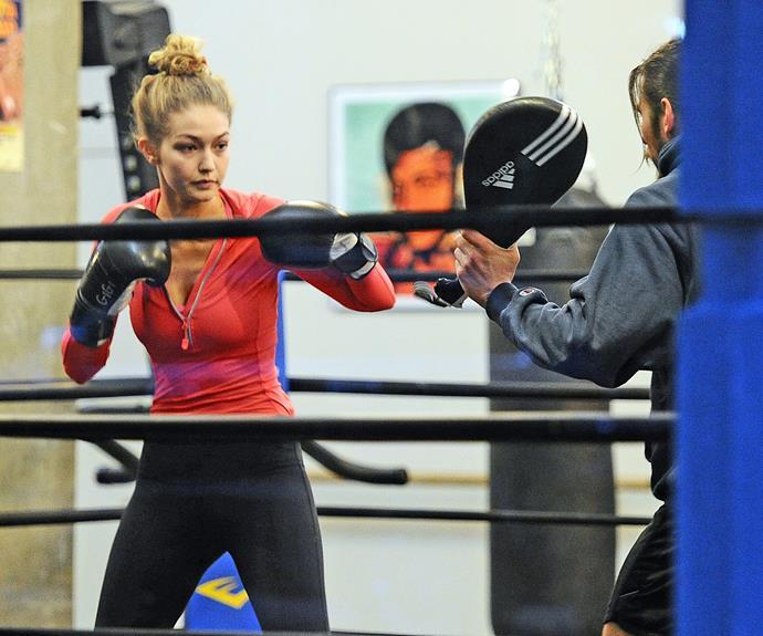 Model Gigi Hadid swears by the combat sport.