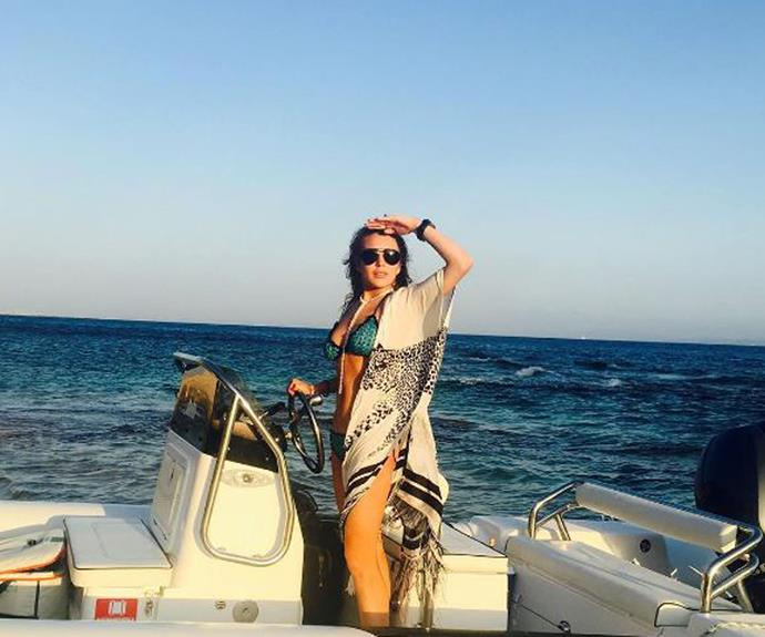 While Lindsay escaped the situation by boarding a yacht with friends.