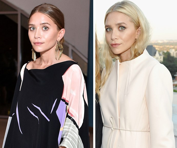 Saying goodbye to her darker locks, Ashley Olsen showed off a platinum-blonde new look when she attended the opening of the Elizabeth and James flagship store at the Chateau Marmont in LA on Tuesday.