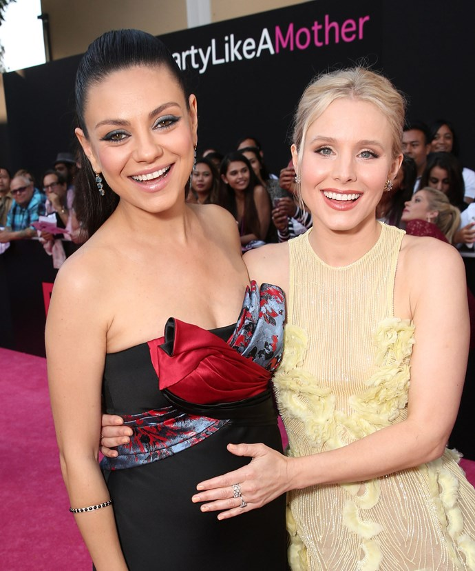 The starlet, with her co-star Kristen Bell, is set to welcome her second bub later this year.