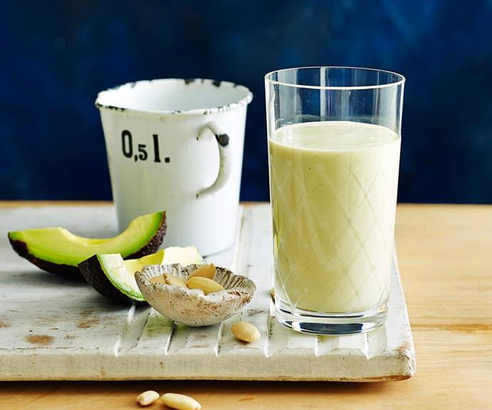 "Try this delicious [almond and avocado smoothie](http://www.foodtolove.com.au/recipes/almond-and-avocado-protein-smoothie-16526|target=""_blank"") from our friends over at Food To Love!"