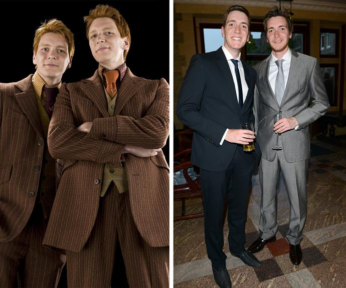 Ahhh the Weasley twins... be still our beating heart for James and Oliver Phelps