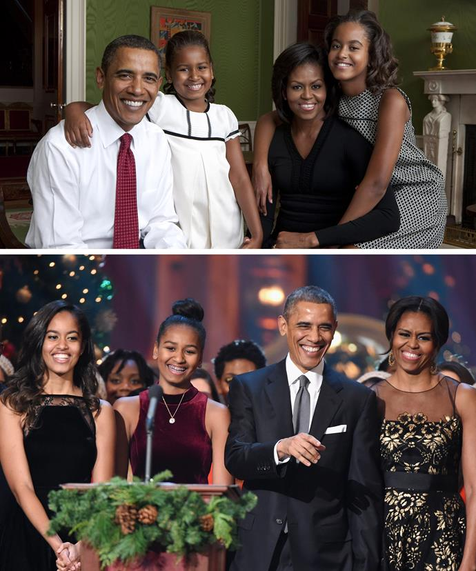 How time flies! The Obama girls have grown up in the spotlight, maintaining their dignity!