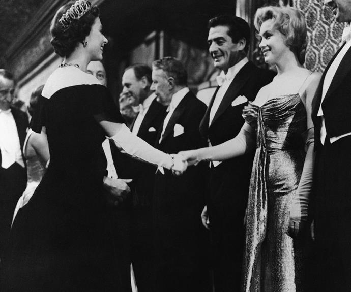 **Marilyn Monroe, 1956** The sex symbol and the leader, who share the same birth year, met at the film premiere of *The Battle of the River Plate* in London. **See footage of their rare encounter in the next slide!**