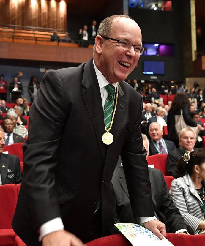 Prince Albert seemed thrilled to be attending the Games festivities.