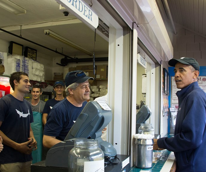 The Obamas are regulars at the popular food hub.