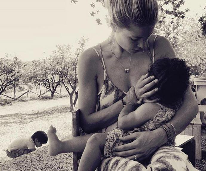 "**Doutzen Kroes** <br><br> Stunning! The Victoria's Secret model shared this beautiful moment between mother and daughter with the simple caption, ""#grateful""."