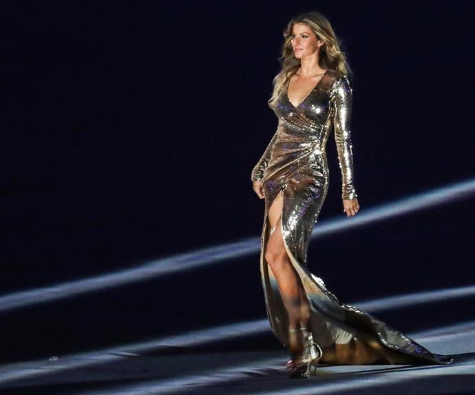 """This is for sure the longest runway I have ever walked in my life and by far with the most amount of people watching, so it is a little nerve-racking I must say,"" Gisele Bundchen told *People* of her final catwalk across Maracanã Stadium. **Watch the iconic model take the stage in the next slide!**"