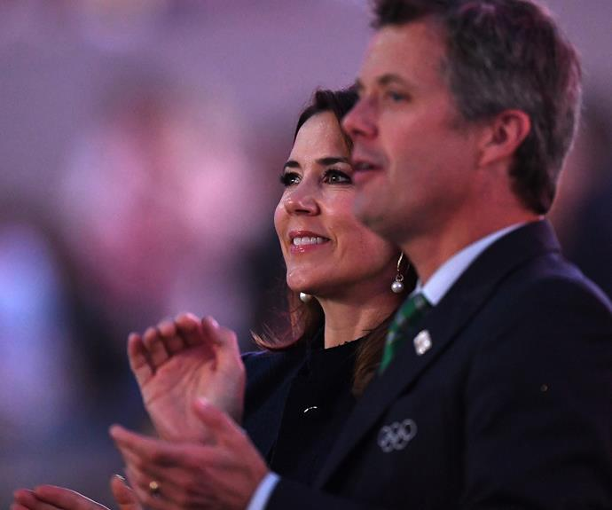 Princess Mary and her husband Prince Frederik couldn't have been more excited as they immersed themselves in the spectacular that was the 2016 Rio Olympics Opening Ceremony.