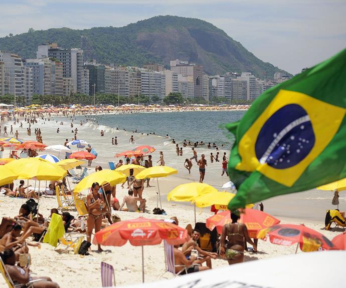 Soak up the sun on Copacabana beach.