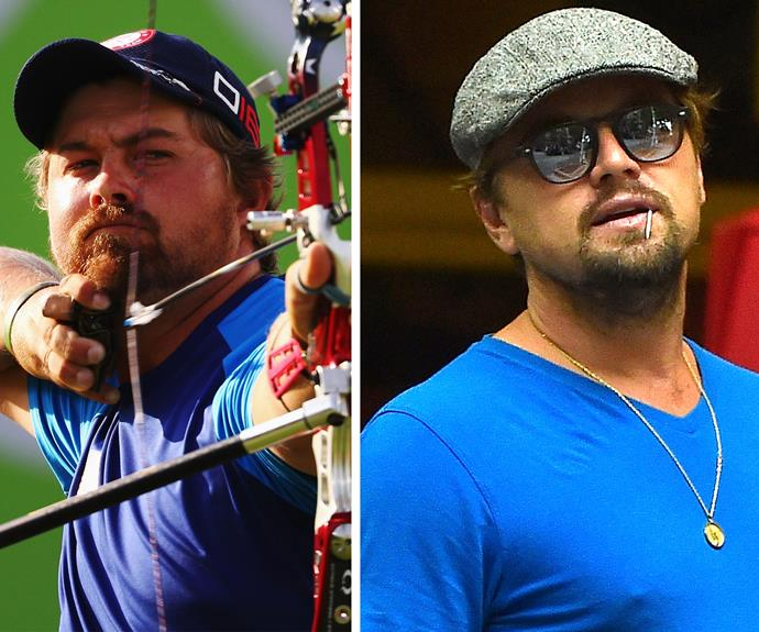 And it would appear the Olympics is home to the finest look alikes! From British royalty to Hollywood royalty. Brady Ellison, 27, is America's archer. Not only taking home the silver medal, he also has been dubbed Oscar winner Leonardo DiCaprio's doppelganger!