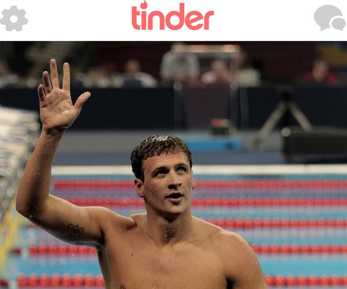 Imagine stumbling upon American swimmer and heartthrob Ryan Lochte on Tinder!