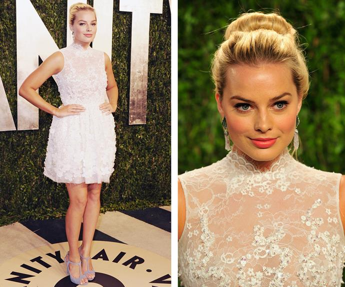 But she really put herself on the map at the 2013 Vanity Fair Oscar Party.