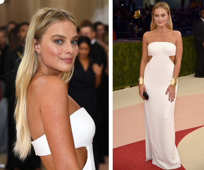 Margot turned heads in this drop-dead gorgeous, figure-hugging gown at the 2016 Met Gala.