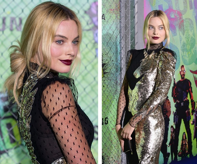 And channelled her *Suicide Squad* character Harley Quinn in this edgy number.
