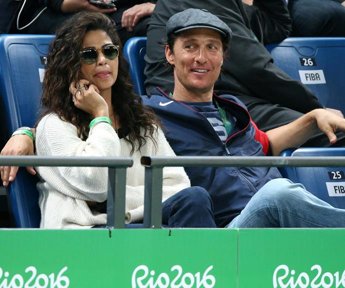 The Brazilian-born beauty is currently working as *NBC* and *E!'*s Lifestyle Correspondent throughout the Games. And clearly the Oscar-winner is loving being his wife's sidekick! **Check out his chat with Sunrise in the next slide...**