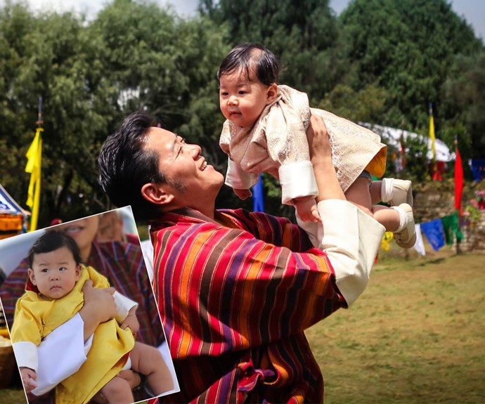 "Each month, King Jigme and Queen Jetsun of Bhutan release new family photos [via their official Facebook page](https://www.facebook.com/KingJigmeKhesar|target=""_blank"") for its online calendar! For the August installment their six-month-old son, Prince Jigme Namgyal Wangchuck, steals the show."