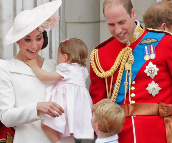 But of course, Prince George is the family's resident cheeky monkey.