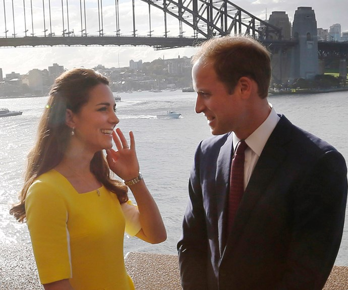 We adore this quiet moment between the pair during their first royal tour of Australia in 2014. William may be in stunning Sydney Harbour, but he only had eyes for Catherine.