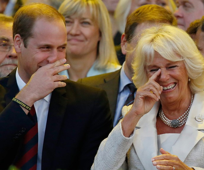 William and Camilla could barely contain themselves at the 2014 Invictus Games opening ceremony.