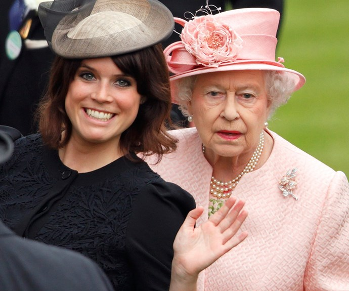 Hello granny! Princess Beatrice flashes her pearly whites.