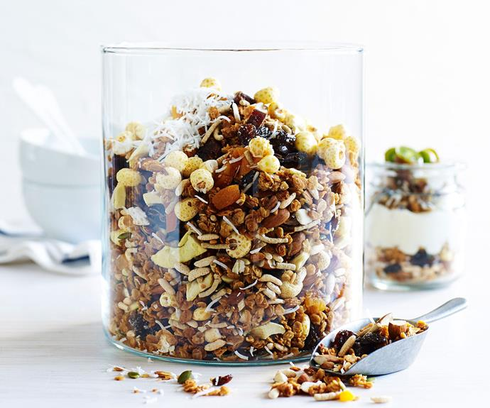 "Check out this delicious [roasted peanut butter muesli](http://www.foodtolove.com.au/recipes/roasted-peanut-butter-muesli-27282|target=""_blank"") recipe here!"