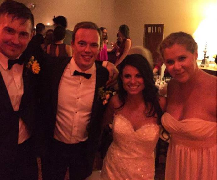 The bride and groom made sure the birthday boy Ben (far left) had a special day too!