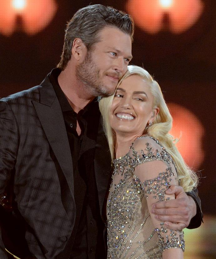 Blake with his girlfriend Gwen Stefani