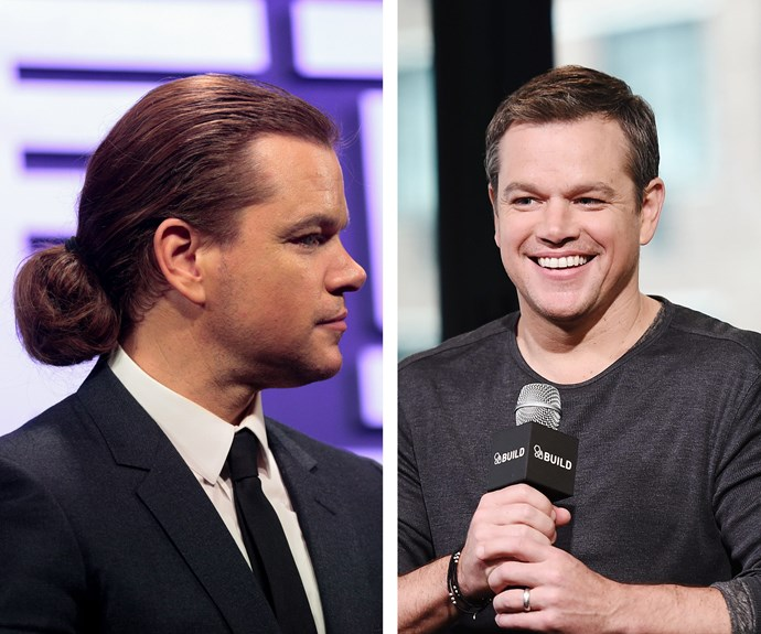 When Matt Damon stepped out for the *Jason Bourne* press conference in Beijing, China, fans were quick to spot a drastic change to his signature short 'do, that he donned as little as three weeks ago (R).