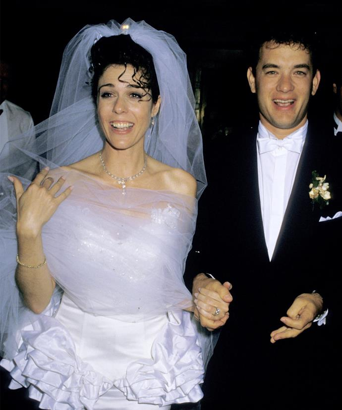 The pair at their wedding reception in 1988.