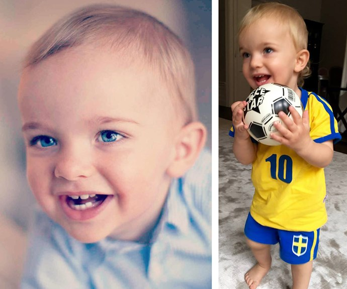 "And the one-year-old has grown up so much already! Princess Madeline recently shared this sweet snap of her son as he prepared to support the women's football team in the Olympic finals. ""Nicolas wishes the Swedish women's football team all the best for tonight's gold medal match!#GoSweden,"" she penned on Facebook."