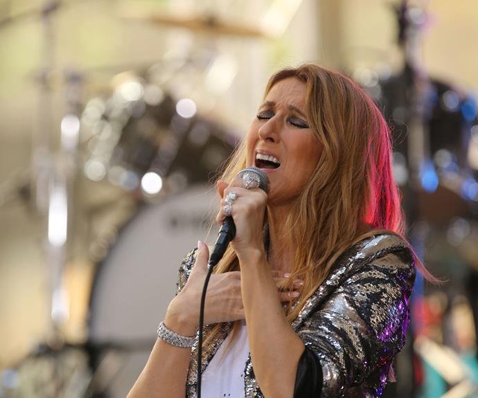 Celine said she had been doing well on her recent appearance on the US *Today* show.