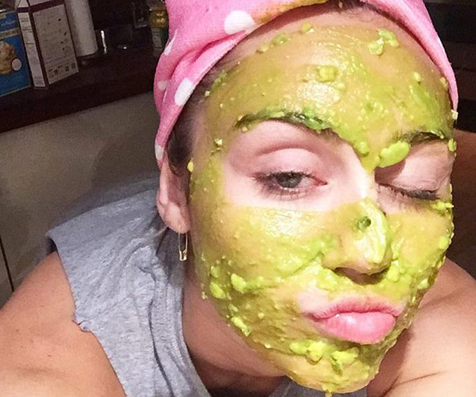 Miley Cyrus is a big fan of using natural ingredients, like avocado, as a nourishing face mask.