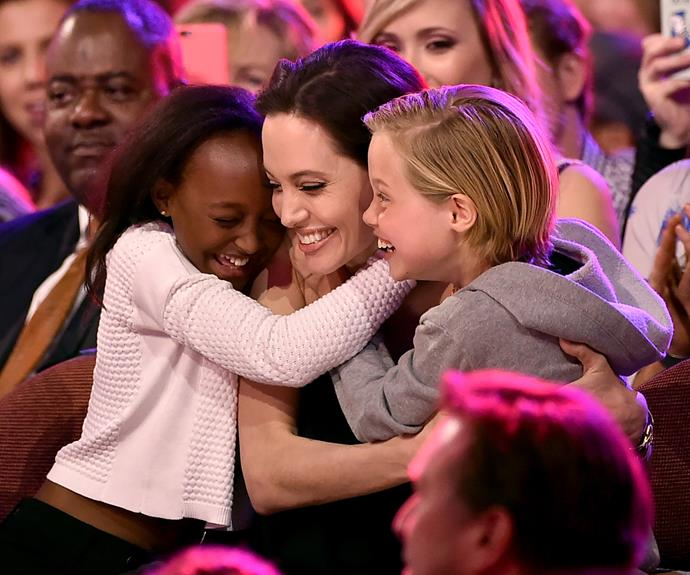 """Angelina Jolie believes that her six kids should be able to express themselves, tantrums and all. """"Children should be allowed to express themselves in whatever way they wish. I would never be the kind of parent to force somebody to be something they are not. I think that is just bad parenting."""" If the super-cute snaps of Ange, Zahara and Shiloh at the Kids' Choice Awards are anything to go by, the Jolie-Pitt's tantrum tactic works!"""