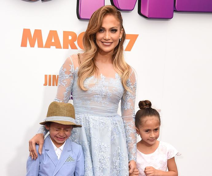 """Jennifer Lopez knows a thing or two about public meltdowns; her twins Max and Emme, seven, both lost it at the premiere of *Home* earlier this year. Luckily Jen had Sunday Funday up her sleeve. """"They don't get to use their iPads during the week or play video games or anything because it's school time... then they get Sunday Funday. It's something I made up so they could work towards it and behave!"""" Smart."""