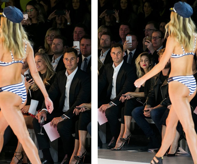 Proud Jake simply couldn't take his eyes off her! **Watch the blonde beauty take on the runway in the next slide! Gallery continues after...**