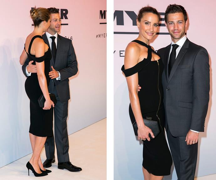"""On the red carpet, all eyes were on Rachael Finch and her baby bump as she posed proudly next to husband, Michael Miziner, [just days after announcing their exciting pregnancy news.](http://www.womansday.com.au/celebrity/australian-celebrities/rachael-finch-confirms-she-is-expecting-her-second-baby-16267