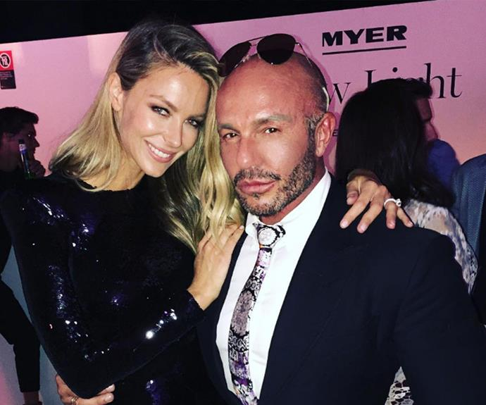 """And after the show is the after party! Taking to Instagram, fashion guru Alex Perry shared a celebratory selfie with his muse. """"CONGRATULATIONS MY BEAUTIFUL FRIEND @jenhawkins_ YOU WERE SPECTACULAR LAST NIGHT!!!!"""" he wrote."""